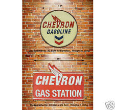 Classic America Chevron Gasoline Embossed Metal Sign Wall Decor Garage Display