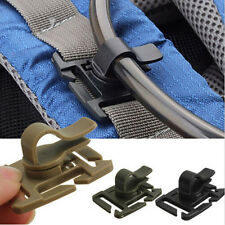 2PCS Hydration Bladder Tube Trap Hose Clip Strap For Molle Fits Camelbak Hot