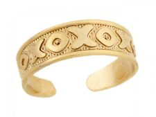 10k / 14k Real Yellow Gold Xoxo Hugs Kisses Thick Designer Toe Band