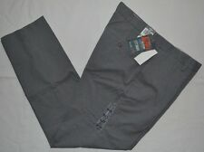 Dockers Pants TAPERED Fit Alpha CITY Khaki gray striped trousers MEN FLAT FRONT