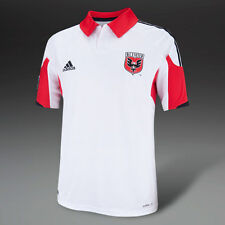 D.C. UNITED (XL) AWAY 2014 WHITE/RED ADIDAS S/S SOCCER FOOTBALL SHIRT JERSEY
