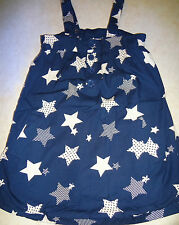 ADORABLE JUNIORS SIZE SMALL NAVY BLUE SHORT DRESS WHITE STARS BY PIPER & BLUE @@
