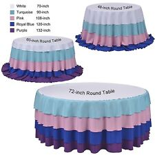 "Tablecloth Polyester Round 132"" Polyester By Broward Linens (Variety of Colors)"