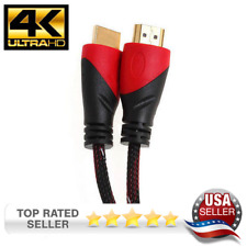 4K Ultra Speed HDMI Cable for 4KTV, PS4, Bluray, Gold Plated w/ Ethernet 1080P
