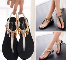 Women's Sparkling Flat Shoes Casual Beach Sandals Thongs Slippers Flip Flops L06