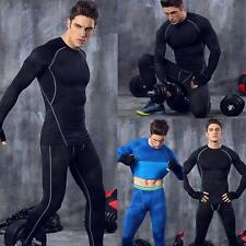 Mens Long Sleeve Tops Tight Shirts Sports Running Fitness GYM Compression Shirts