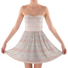 Lace on Pink Sweetheart Skater Dress Strapless XS-3XL