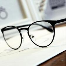 Men Women Vintage Clear Lens Eyeglasses Frame Unisex Retro Round Nerd Glasses