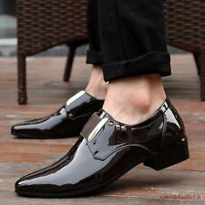 New Fashion Men's patent leather business loafer casual dress formal Shoes#
