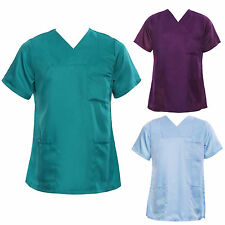 Medical Nursing Men Women Scrub Top Hospital Nurse Clinic Uniform Shirt