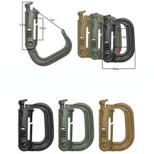2PCS D-ring Molle Lock Webbing Buckle Barabiner Climb Backpack Hook Small Button