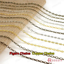 5 meters More Style Silver Gold Copper Figaro Chains Necklace Chains 20005