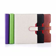 Loose Leaf PU Leather Business Notebook Ruled Diary Journal Note Memo Ruler #JP