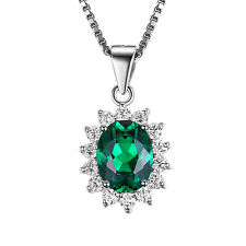 JewelryPalace Nano Russian Emerald Pendant Necklace 925 Sterling Silver ON SALE