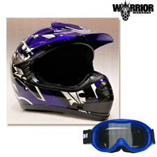 Youth Motocross Helmet - Kids Child, BLUE XS - XL Aust Std, Dirt bike Quad BMX