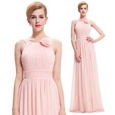 Chiffon PINK Bridesmaid Cocktail Long Formal Evening Prom Dress Ball Gown Party