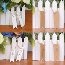 100pcs Blank/thank you Paper Hang Tags Wedding Party Favor Label Cards Tags