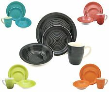 Dinner Service Sets Round Dining Plates Bowls Mugs Summer Colors Dinnerware Set