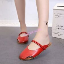 Womens Close Toe Summer Hollow Out Flats Sandals Casual Shoes Mules Slippers Hot