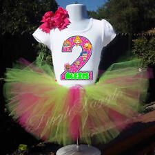 Bubble Guppies inspired Girl Birthday Custom Personalized shirt tutu Bow outfit