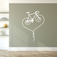 Fixie Track Bicycle Heart Vinyl Wall Decal road bike removable sticker K622-W