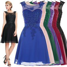 Short Homecoming Cocktail Party Evening Bridesmaid Dress Formal Prom Grad Dress