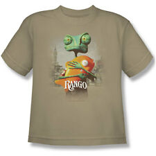 Rango Men's  Poster Art Youth T-shirt Sand Rockabilia