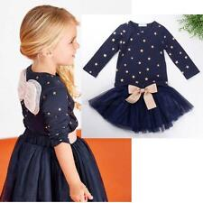 2 PCS Girl Baby Kids Children Top Coat Pullover+Skirt Tutu Clothing Outfit Set