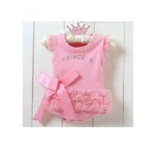 Baby girl one piece Princess pink Tutu Ruffles Romper suit So adorable!