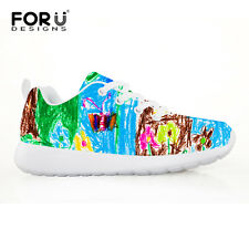 Painting Pattern Kids Girls Child Sports Running Sneakers Casual Shoes Toddlers
