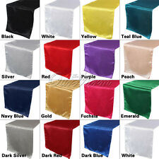 "High Quality Satin Table Runners 12""x108"" Wedding Banquet Restaurant Table Decor"