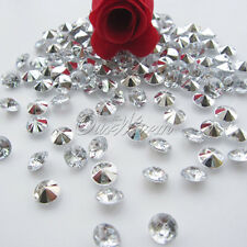 1000 8.0mm Acrylic Crystal Diamond Confetti Wedding Party Decor Table Scatter