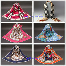 Women's Soft Long Neck Large Scarf Long Square Shawls Pashmina Silk Scarf Gifts