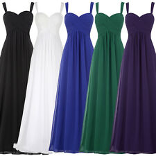 Sexy Chiffon Prom Gown Evening Cocktail Party Bridesmaid Formal Long Maxi Dress