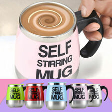 Stainless Steel Self Stirring Auto Mixing Mug Coffee Tea Cup Office Home Gift