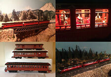 Stunning truss-rod Passenger Train sprung trucks lighted with detailed people