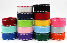 "3/8"" 9mm 5/8""16mm 7/8""22MM 1"" 25mm Stitch Grosgrain Ribbon DIY Accessories"
