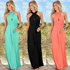 Ladies Convertible Infinity Long Maxi Dress Bridesmaid Evening Party Prom Gown
