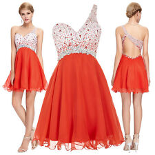 Beaded One Shoulder Short Prom Evening Dress Cocktail Party Homecoming Dresses