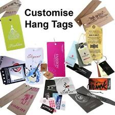 250 Custom Printed Hang Tags Clothing Tags Swing Tags