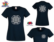"""Sri Yantra - FRUIT OF THE LOOM T-Shirt """"Lady Fit Valueweight T"""" - Flexo printing"""