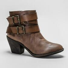 Blowfish Sworn Coffee Saddle Womens Heeled Ankle Boots WAS 59.99 NOW 34.99