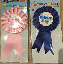 Adult Kids Birthday Party Badges W Ribbon Pins Birthday Girl/Boy  Party Flavor