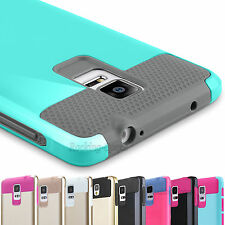 Hybrid Slim Armor Defender Protective Hard Case Cover For Samsung Galaxy Note 4