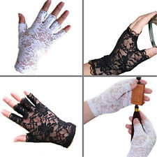 Nice Women Amazing Goth Party Sexy Dressy Lace Gloves Mittens Fingerless Style