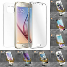 Crystal Clear Case Cover Full Body Protective For Samsung Galaxy & iPhone Models