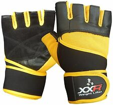 XXR ULTRA Weight Lifting Gloves Leather Fitness Strengthen Training Workout