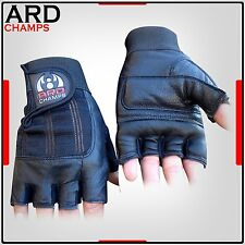 Leather Weight Lifting Gloves Gloves Power Lifting Lifter PADDED Palm Exercise