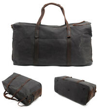 Waterproof Canvas Travel Shoulder Bag Hand Luggage Duffle Laptop Overnight Bag N