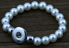 Interchangeable snap gray beads  bracelets jewelry fit 18mm snaps chunk